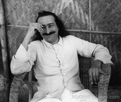 Smiling Pictur Of Meher Baba Ji
