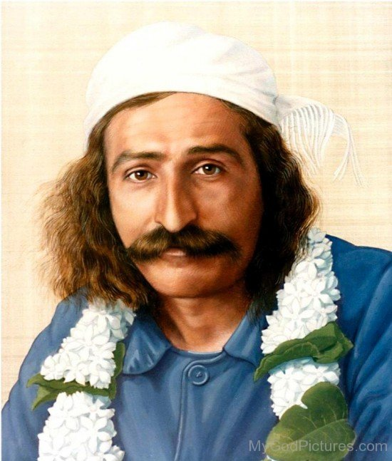 Water Painting Of Avatar Meher Baba Ji
