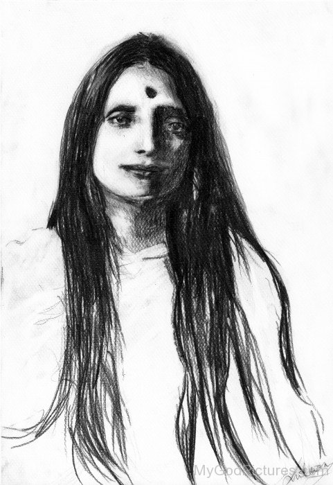 Anandamayi Maa Drawing
