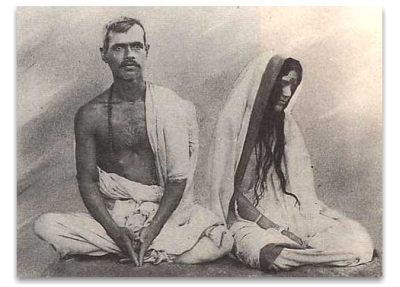 Anandamayi Maa With Her Husband Ramani Mohan