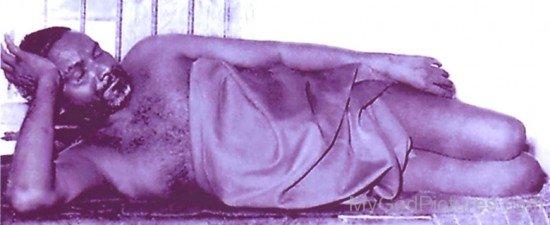 Bhagawan Nityananda Sleeping