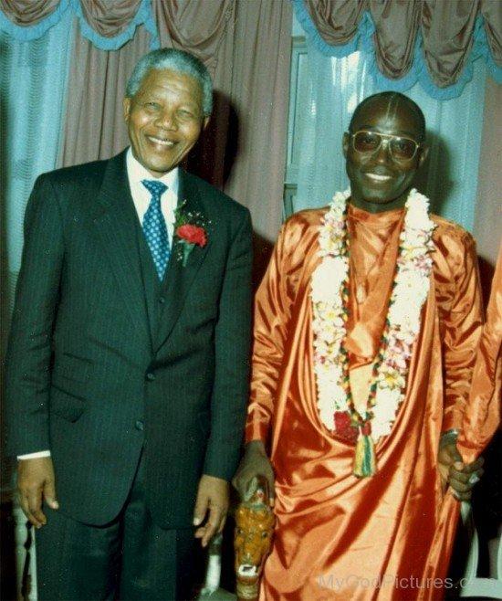 Bhakti Tirtha Swami With Nelson Mandela