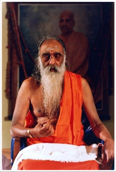 Chinmayananda Saraswati Swami Doing Meditation