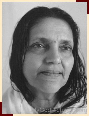 Divine Picture Of Anandamayi Maa