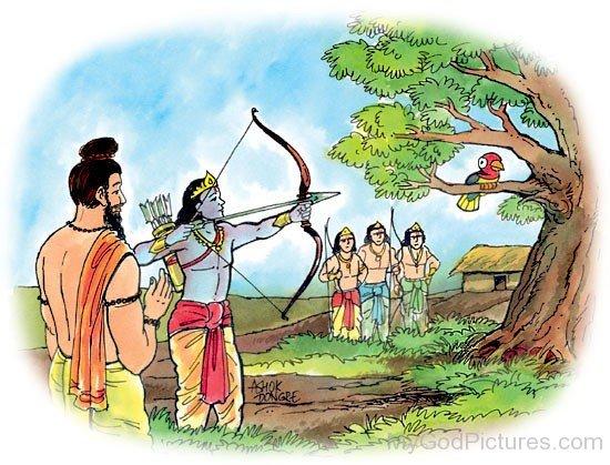Dronacharya With Arjuna