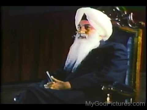 Mahraj Charan Singh Ji Sitting On Chair