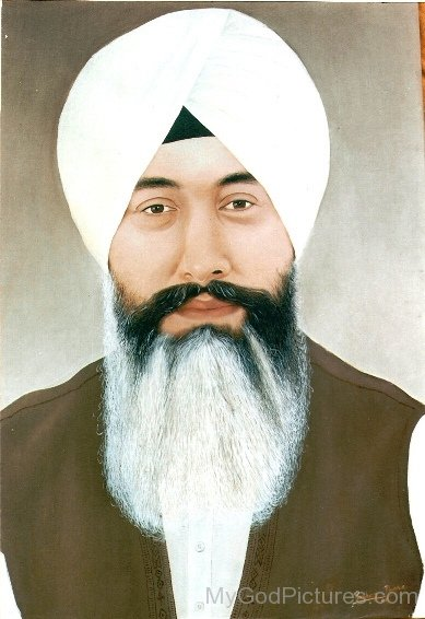 Painting Of Baba Gurinder Singh Ji - Painting-Of-Baba-Gurinder-Singh-Ji