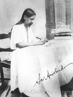 Sri Aurobindo Doing Work