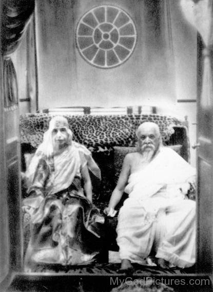 Sri Aurobindo With His Mother
