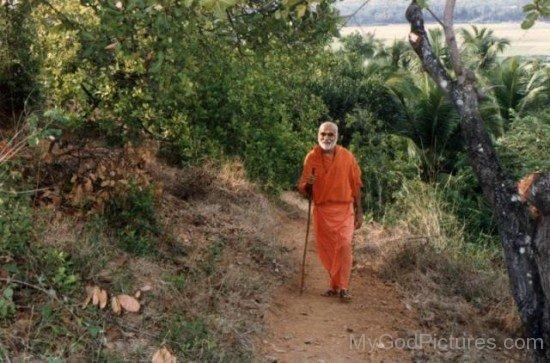 Swami Bhoomananda Tirtha On Pandavagiri Hill