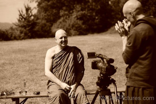 Ajahn Brahm During Interview