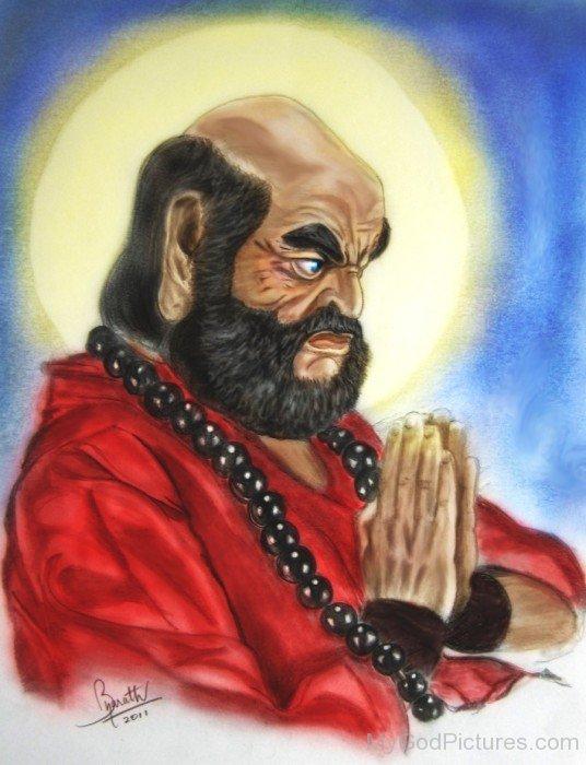Amazing Portrait Of Bodhidharma
