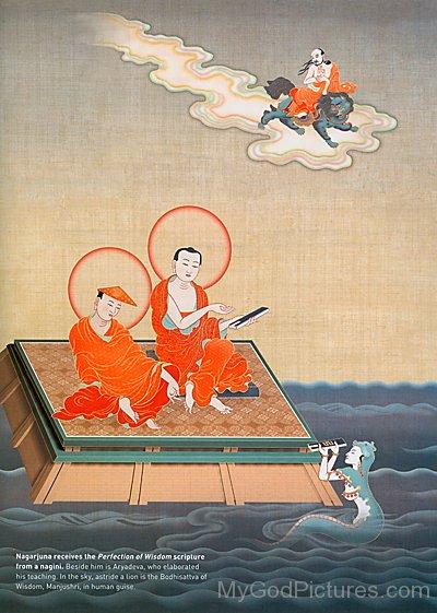 Aryadeva With Nagarjuna