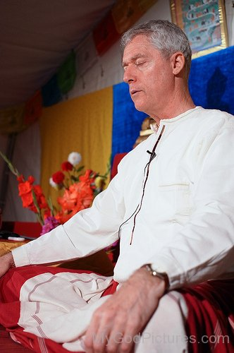 B.Alan Wallace Doing Meditation