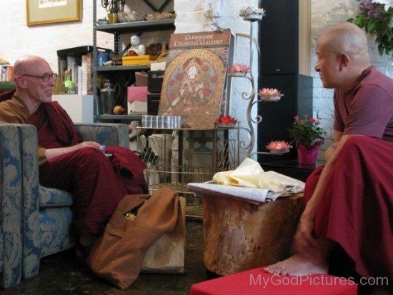 Bhikkhu Bodhi With Dzongsar Khyentse Rinpoche