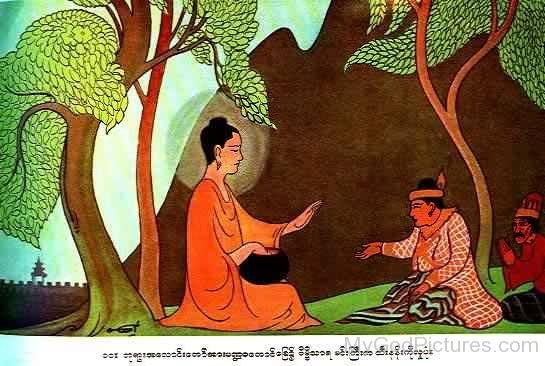Bimbisara And Lord Buddha