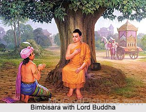 Bimbisara With Lord Buddha
