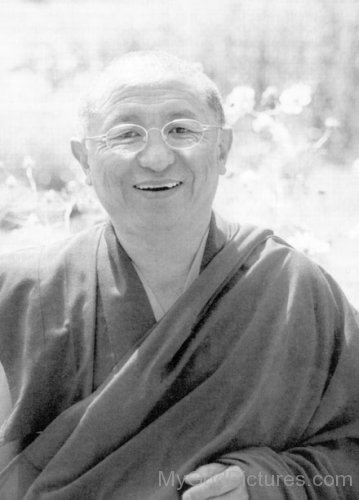 Black And White Picture Of Chokyi Nyima Rinpoche