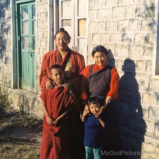 Chagdud Tulku Rinpoche With His Family