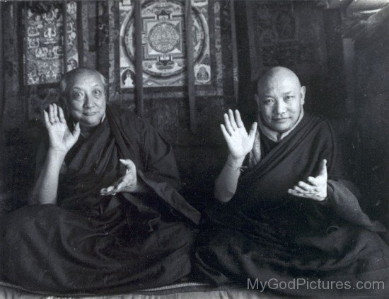 Dilgo Khyentse And Kyabje Trulshik Rinpoch