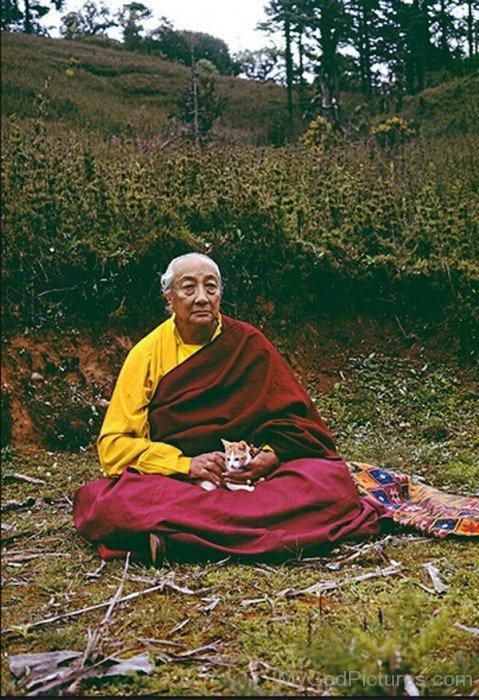 Dilgo Khyentse Sitting On Ground
