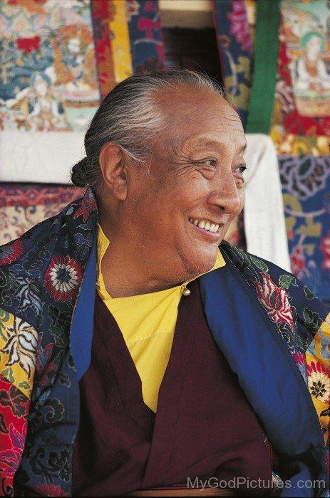 Dilgo Khyentse Smiling