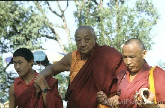 Dilgo Khyentse With His Disciples