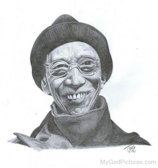 Drawing Of Kelsang Gyatso
