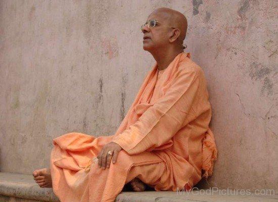 Gopala Krishna Goswami Doing Meditation