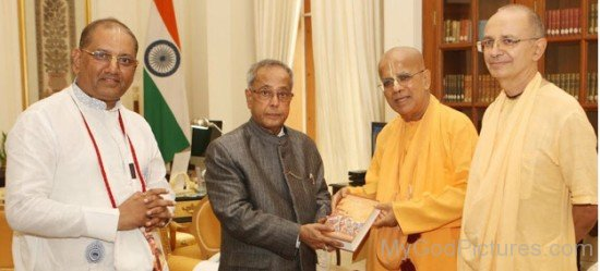 Gopala Krishna Goswami With President Pranab Mukherjee