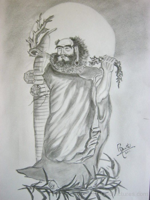 Incredible Sketch Of Bodhidharma