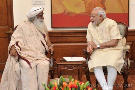 Jaggi Vasudev Ji With Prime Minister Narender Modi