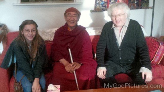 Karma Thinley Rinpoche With Lama Jampa And His Daughter
