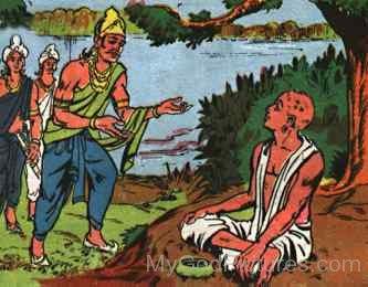 King Bimbisara Meets Siddhartha Gautama