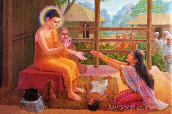 Kisa Gotami Greets Lord Buddha