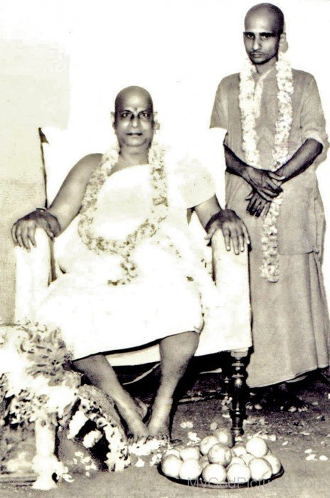 Krishnananda Saraswati With His Guru