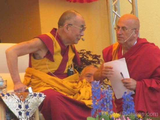 Matthieu Ricard And Dalai Lama
