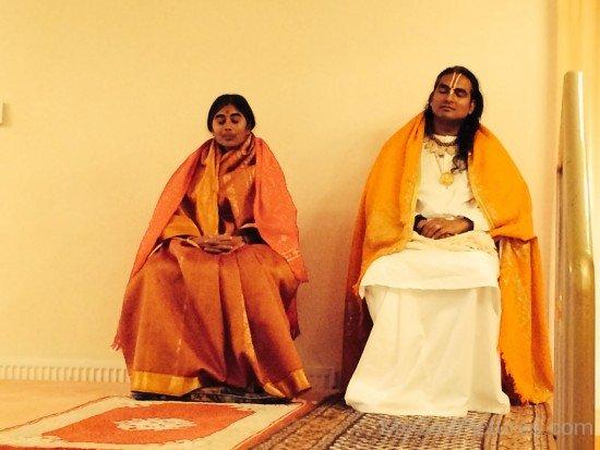 Mother Meera With Swami Vishwananda