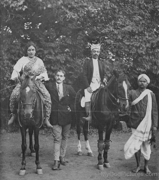Narayan Maharaj On Horse