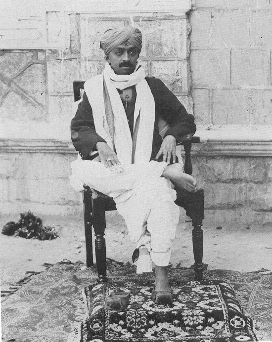 Narayan Maharaj Sitting On Chair