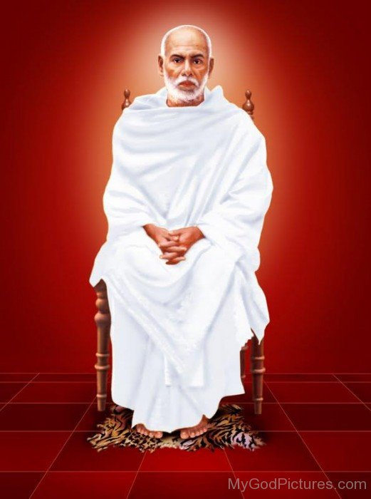 Narayana Guru Sitting On Chair