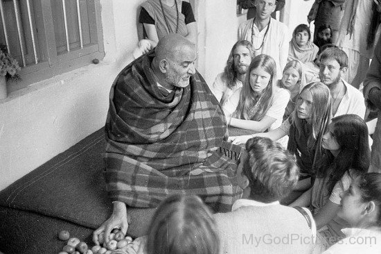 Neem Karoli Baba Talking With His Devotees