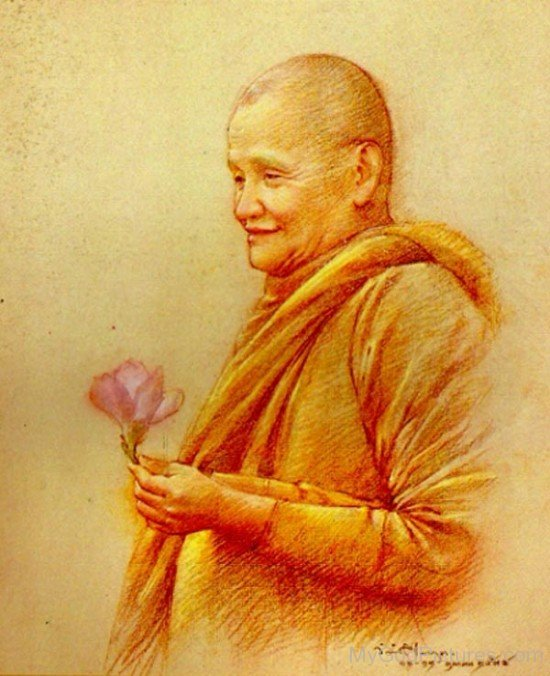 Painting Of Ajahn Chah
