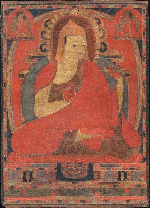 Painting Of Atisa Dipamkara Srijnana