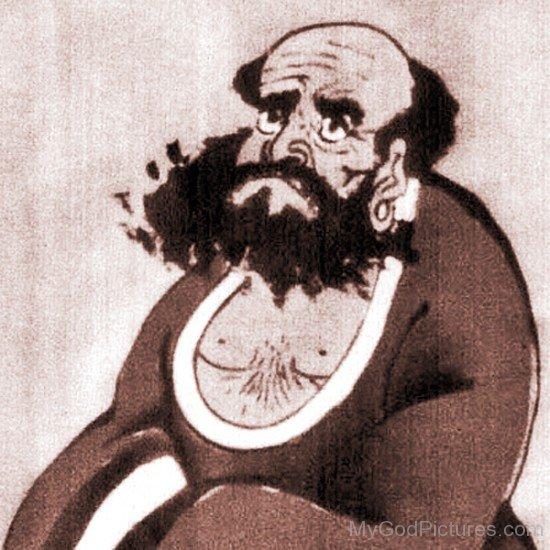 Portrait Of Bodhidharma