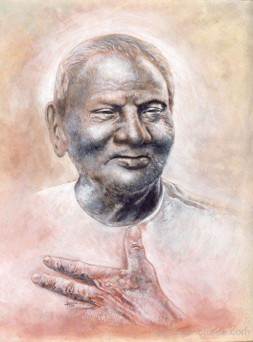 Portrait Of Nisargadatta Maharaj