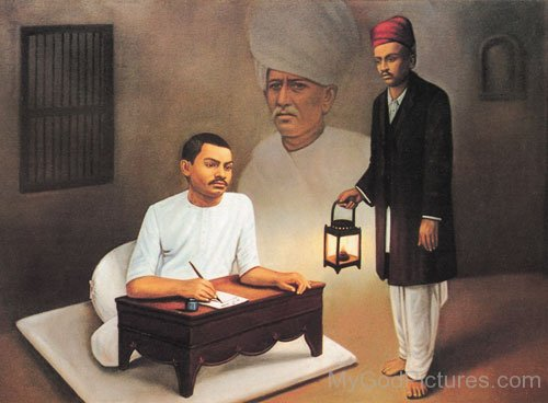 Portrait Of Shrimad Rajchandra Ji