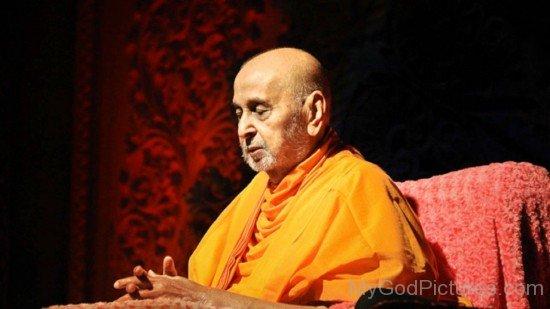Pramukh Swami Maharaj Doing Meditation