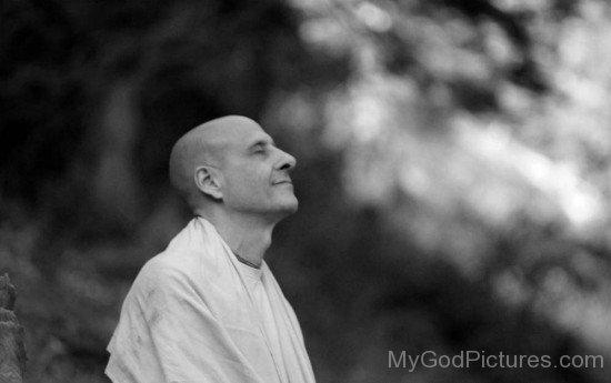 Radhanath Swami Ji Doing Meditation