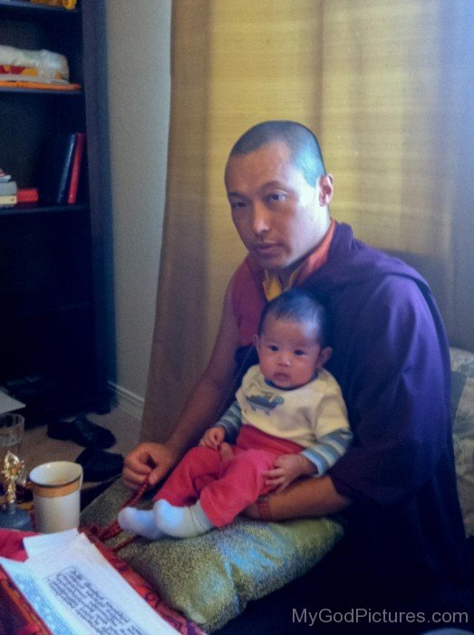 Sakyong Mipham With His Baby